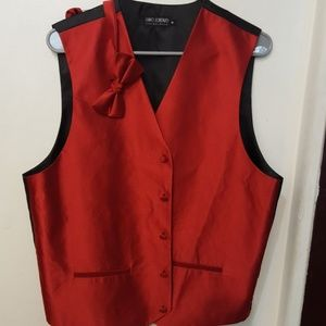 Umo Lorenzo red black vest